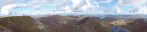 The view east from Helvellyn, third-highest point in England.