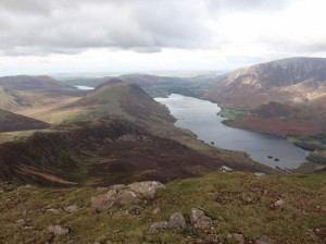 Crummock Water, looking down from High Stile.